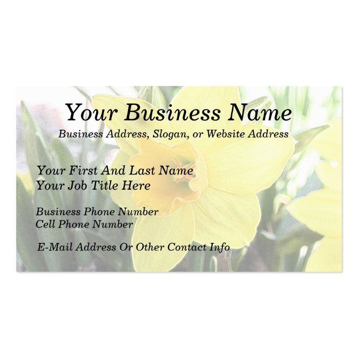 A Cheerful Yellow Daffodil Business Card