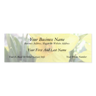 A Cheerful Yellow Daffodil Double-Sided Mini Business Cards (Pack Of 20)