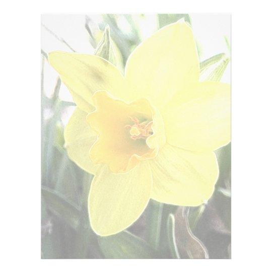 A Cheerful Yellow Daffodil Letterhead