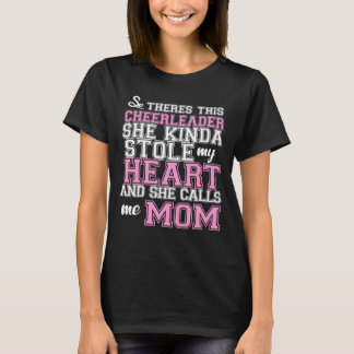 A cheerleader stole my heart Mom T-Shirt