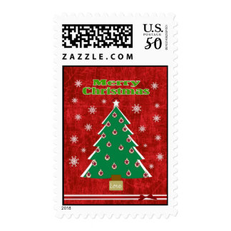 A Cheery Country Christmas Postage Stamp
