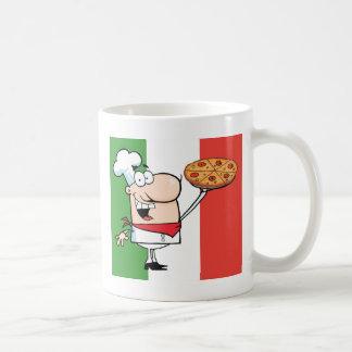 A Chef Holds Up Pizza Coffee Mug