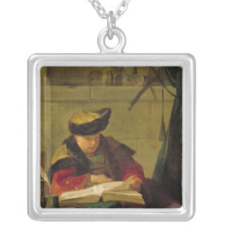 A Chemist in his Laboratory Silver Plated Necklace
