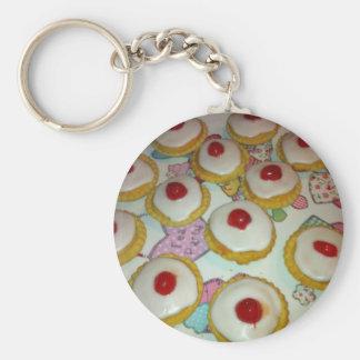 A Cherry Bakewell Tart Keychain