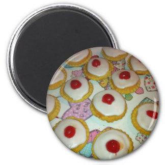 A Cherry Bakewell Tart Magnet