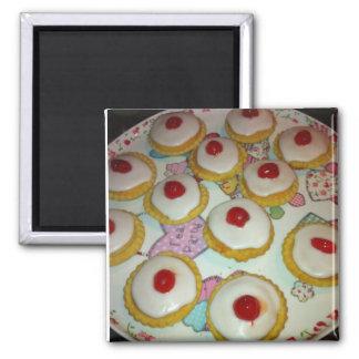 A Cherry Bakewell Tart Refrigerator Magnets