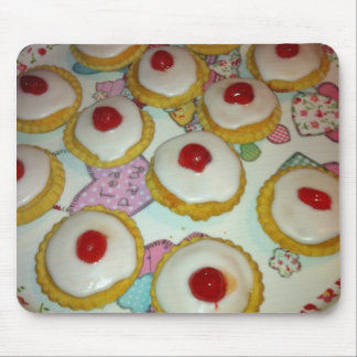 A Cherry Bakewell Tart Mouse Pad