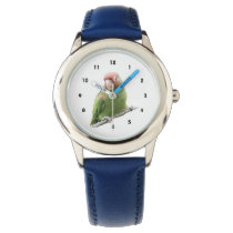A Cherry Headed Conure Wristwatch