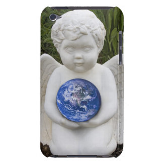 A cherub in the garden cradles the earth Case-Mate iPod touch case