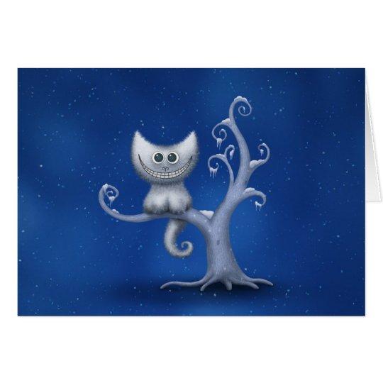 A Cheshire Kitten (Christmas) Card