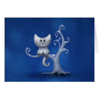 A Cheshire Kitten (Christmas) Greeting Card