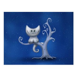 A Cheshire Kitten (Christmas) Postcard