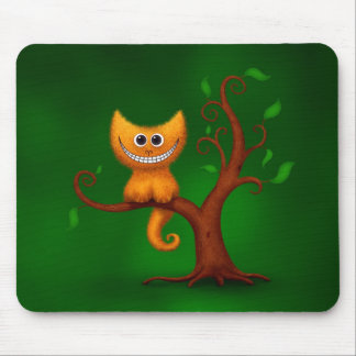 A Cheshire Kitten Mouse Pad