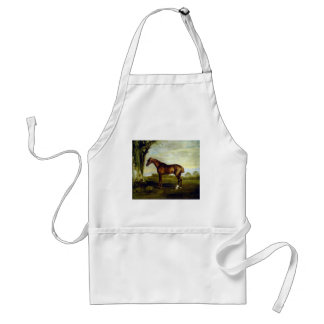 A Chestnut Racehorse by George Stubbs Adult Apron