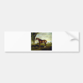 A Chestnut Racehorse by George Stubbs Bumper Sticker