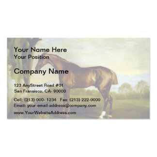 A Chestnut Racehorse by George Stubbs Business Card Templates
