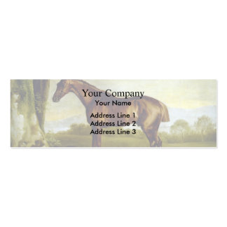 A Chestnut Racehorse by George Stubbs Business Card Template