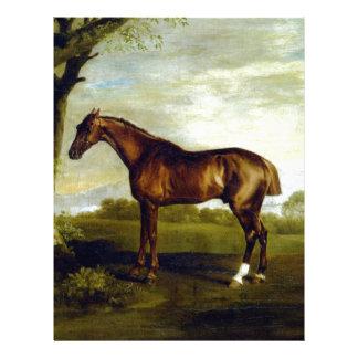 A Chestnut Racehorse by George Stubbs Letterhead
