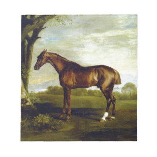 A Chestnut Racehorse by George Stubbs Notepad