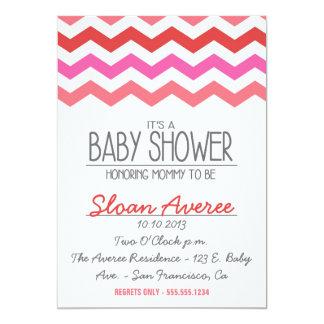 A CHEVRON BABY SHOWER INVITATION