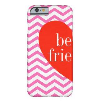 A Chevron Pink Best Friends Matching iPhone 6 Case
