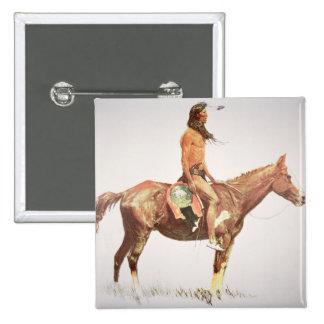 A Cheyenne Brave, 1901 (colour litho) 2 Inch Square Button