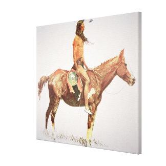 A Cheyenne Brave, 1901 (colour litho) Canvas Print