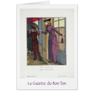 A Chic Arrival, Greeting Card