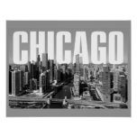 A Chicago Cityscape Poster