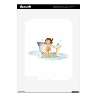 A child above the rug skins for iPad 3