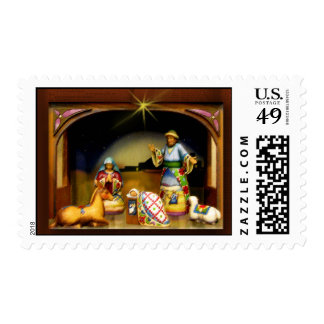 A child is born Nativity Christmas Stamp