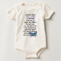 A child is like baby bodysuit