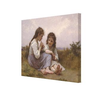 A Childhood Idyll (Idylle Enfantine) (1900) Canvas Print