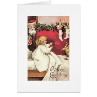 A Child's Christmas Excitement Greeting Card