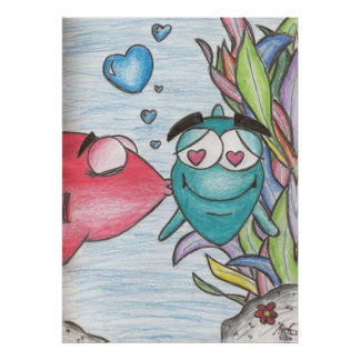 A Child's Drawing Love the Fishy Posters