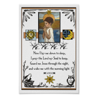 A Child's Prayer Poster
