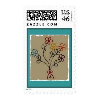 A Child's Rainbow Bouquet Postage Stamp stamp
