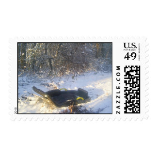 A Childs Sled In The Snow.... Postage