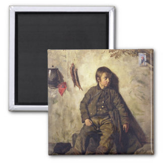 A Chimney Sweep from Savoie, 1832 2 Inch Square Magnet