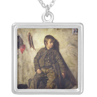 A Chimney Sweep from Savoie, 1832 Silver Plated Necklace