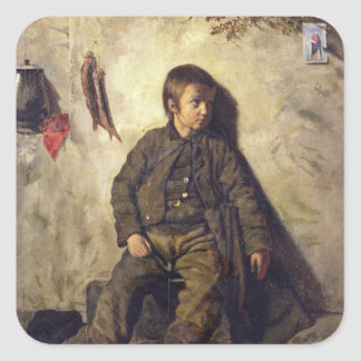 A Chimney Sweep from Savoie, 1832 Square Sticker