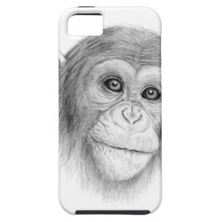 A Chimpanzee, Not Monkeying Around Sketch iPhone SE/5/5s Case