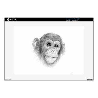 A Chimpanzee, Not Monkeying Around Sketch Laptop Decal