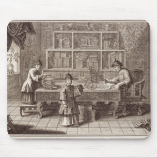 A Chinese Calligraphy Shop, from an account of the Mouse Pad