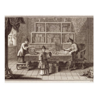 A Chinese Calligraphy Shop, from an account of the Postcard