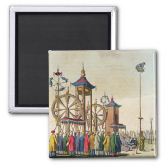 A Chinese circus, illustration from 'Le Costume An 2 Inch Square Magnet