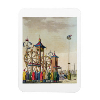 A Chinese circus, illustration from 'Le Costume An Rectangular Photo Magnet