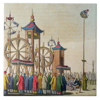A Chinese circus, illustration from 'Le Costume An Tile