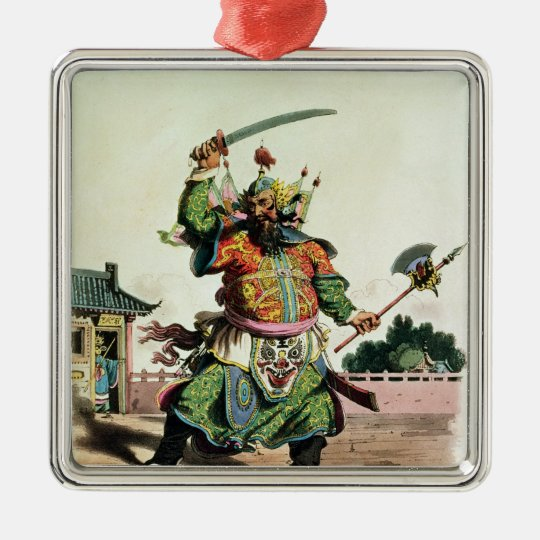 A Chinese Comedian Metal Ornament