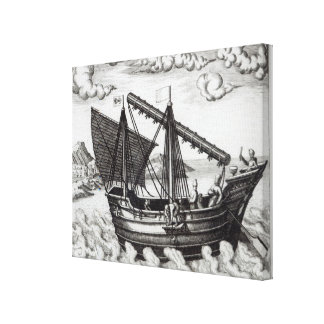 A Chinese Junk Canvas Print
